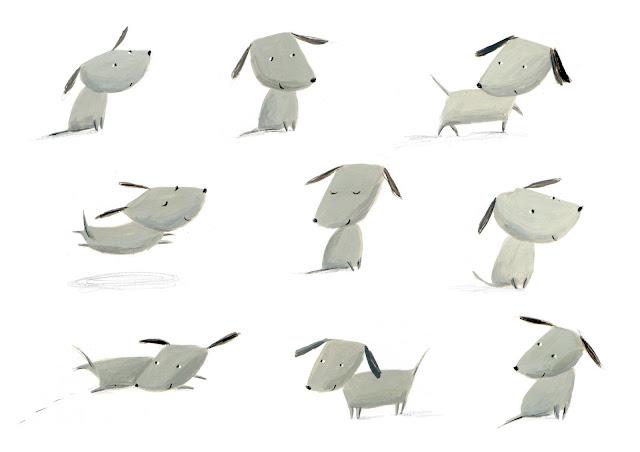 Dog Illustration by Ekaterina Trukhan