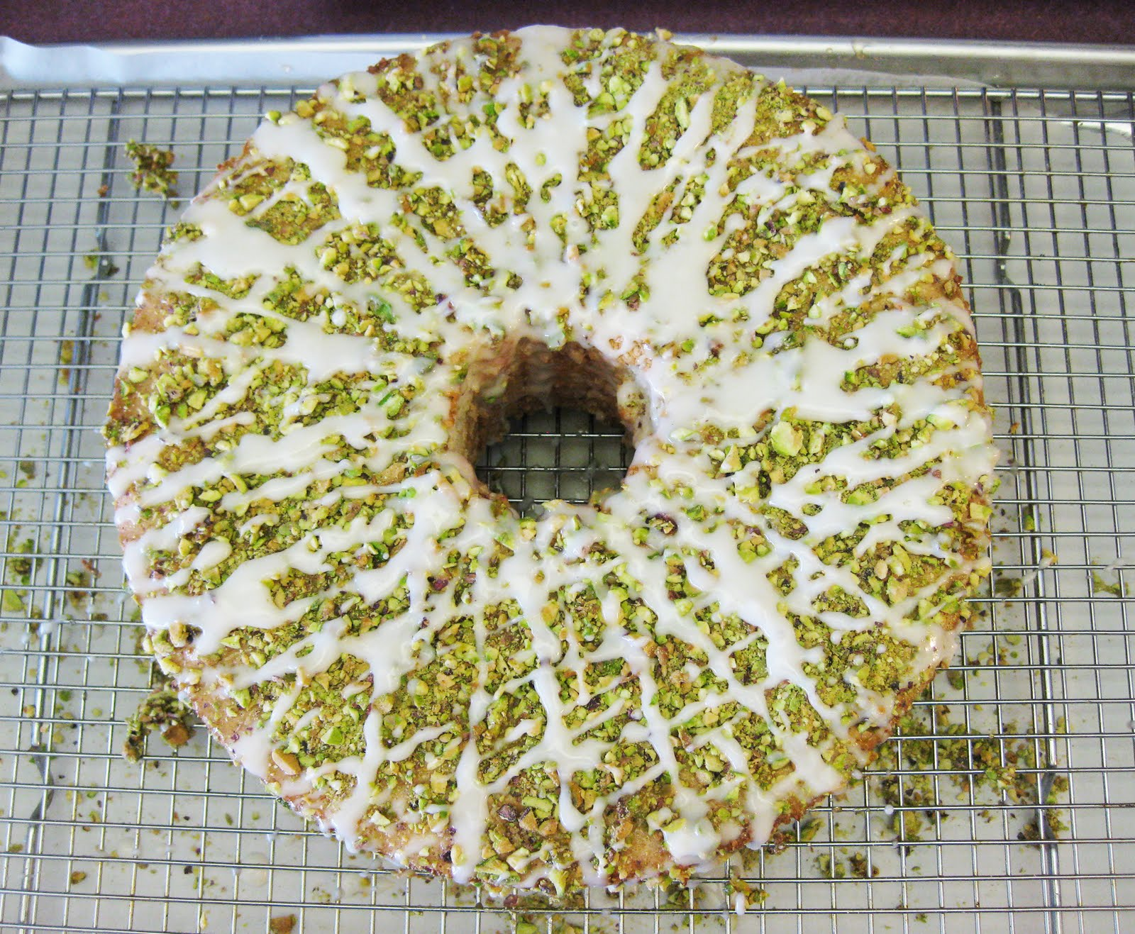 Bloatal Recall: Lime Angel Food Cake with Pistachios