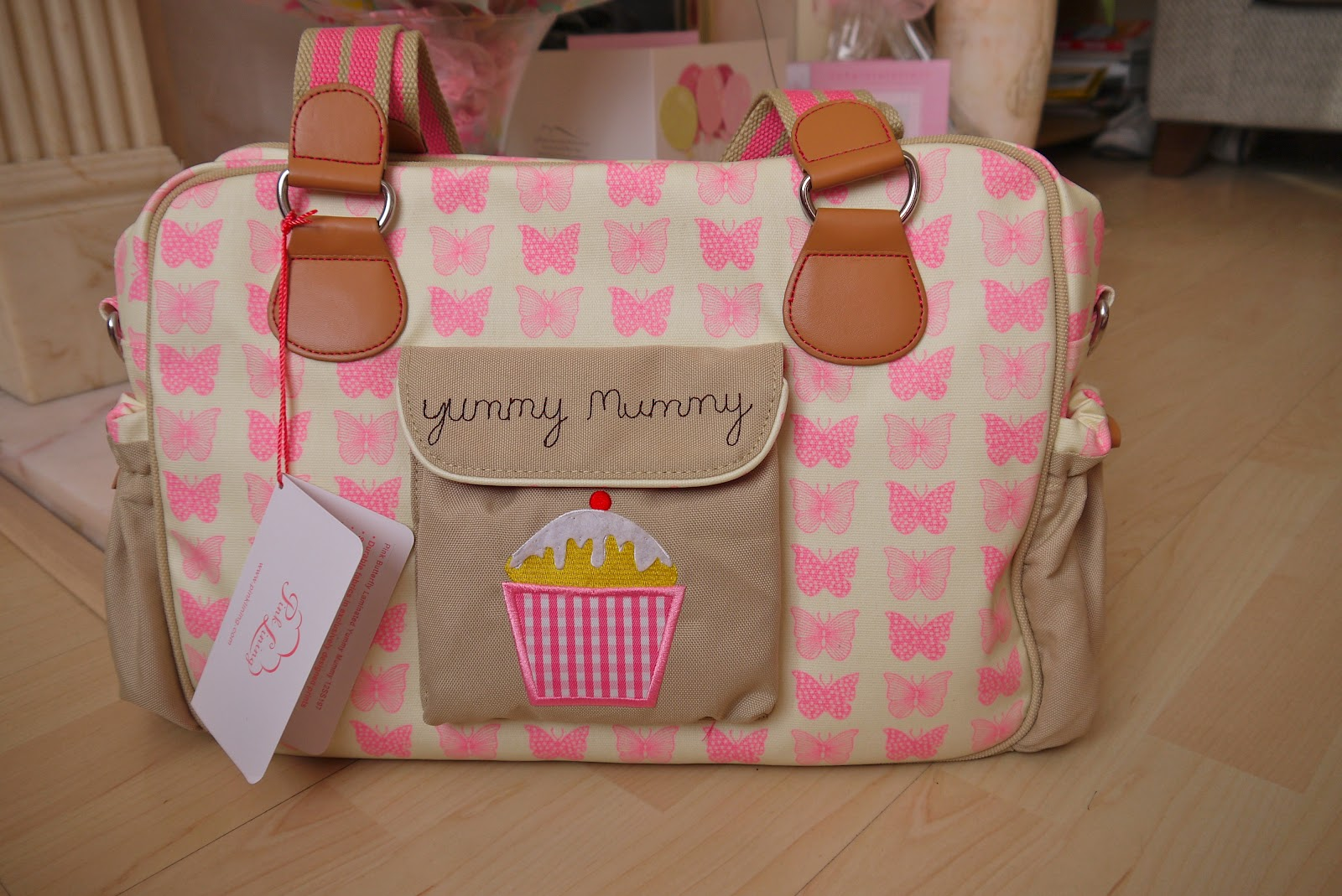 pink lining changing bag my pretty mummy. Black Bedroom Furniture Sets. Home Design Ideas
