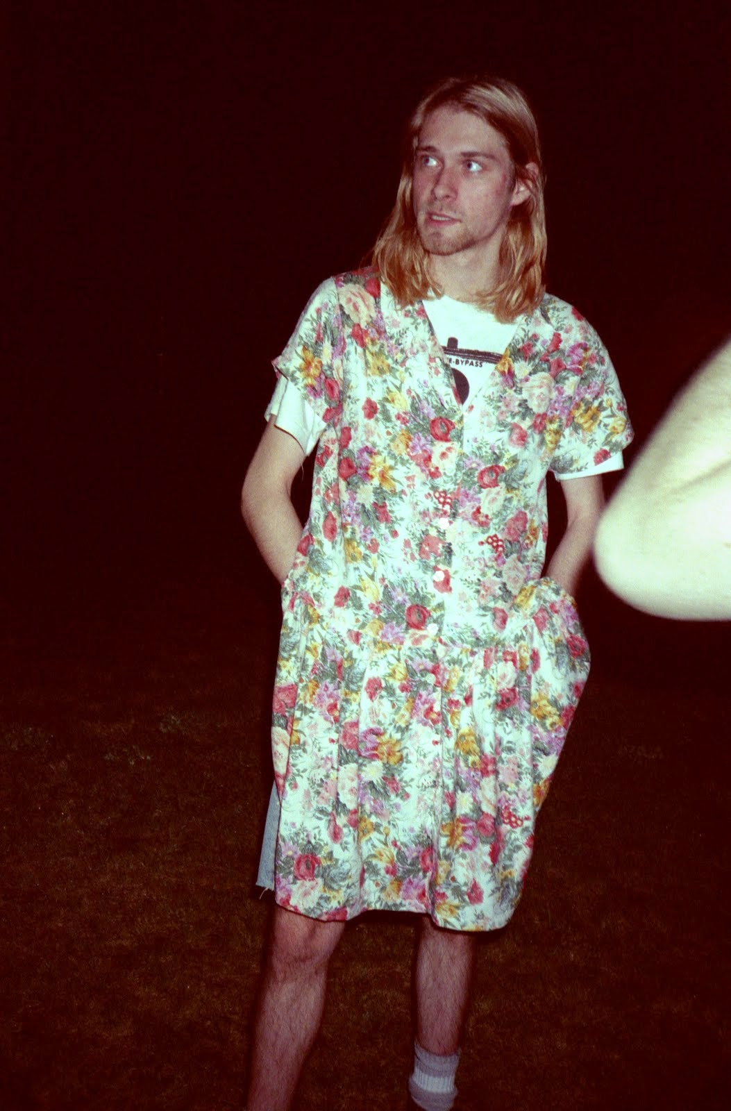 Kurt in a dress