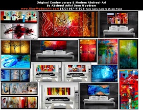 BEAUTIFUL LARGE ORIGINAL ABSTRACT PAINTINGS - SHIPPING IS FREE!!!