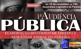 Paraíba terá Código de Direito e Bem-Estar Animal