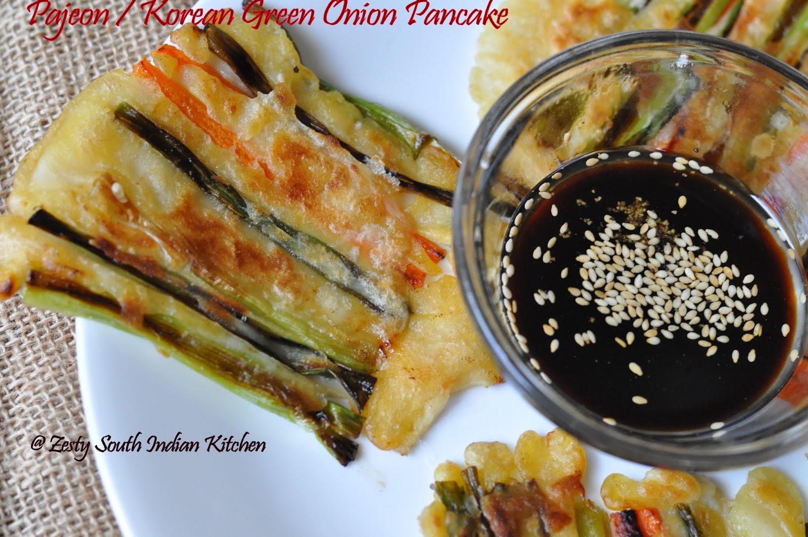 Pajeon/ Korean Green Onion Pancake - Zesty South Indian Kitchen