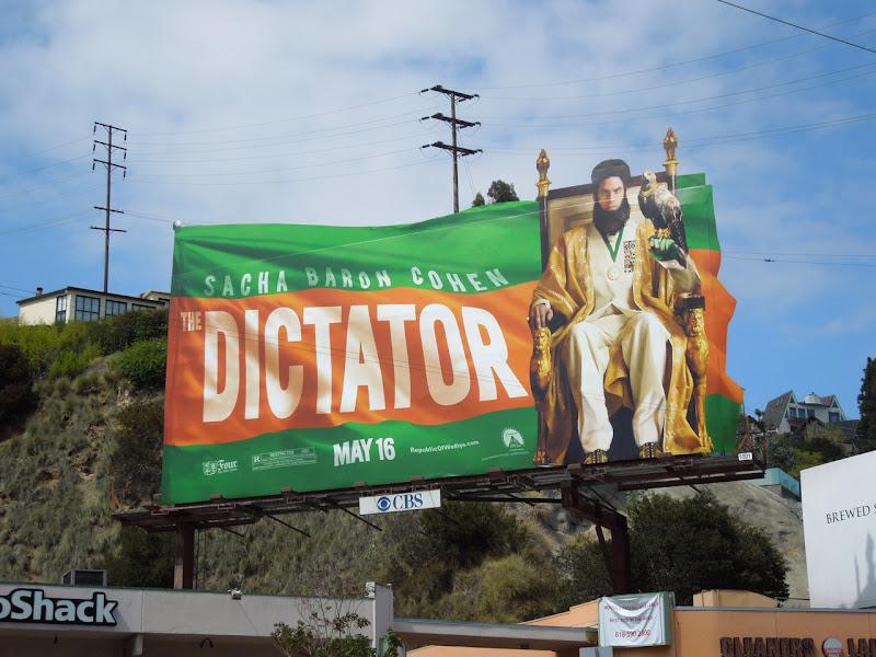 Dictator movie billboard