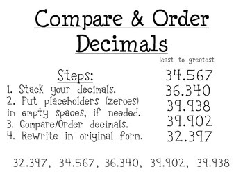Comparing Decimals Game 4th Grade - 1000 ideas about comparing ...