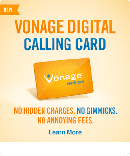 Vonage Digital Calling Card Promo