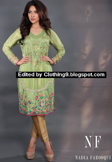Nadia Farooqui fall formal eid dress collection