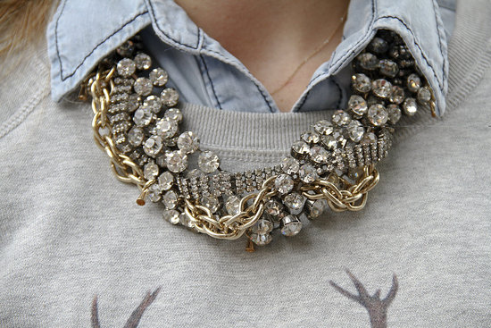Statement necklace trend