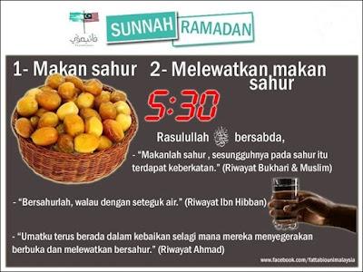 sunnah, ramadhan, puasa, sahur, makan, kurma, keberkatan