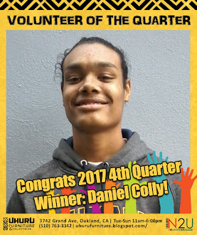 VOLUNTEER OF THE QUARTER, 4th Quarter 2017