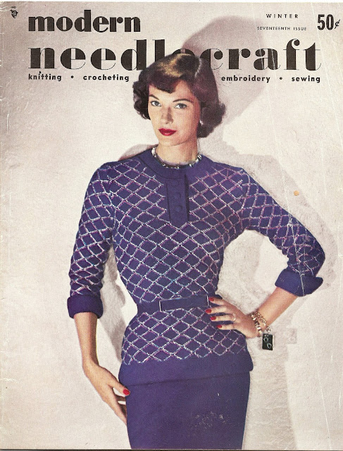 The Vintage Pattern Files - Free 1950's Knittng Pattern - Modern Needlecraft Suit Pattern