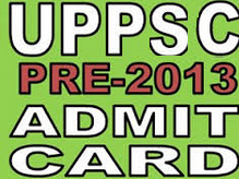 UPPSC PCS Admit Card 2013