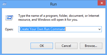 Create your Own RUN Command in Windows