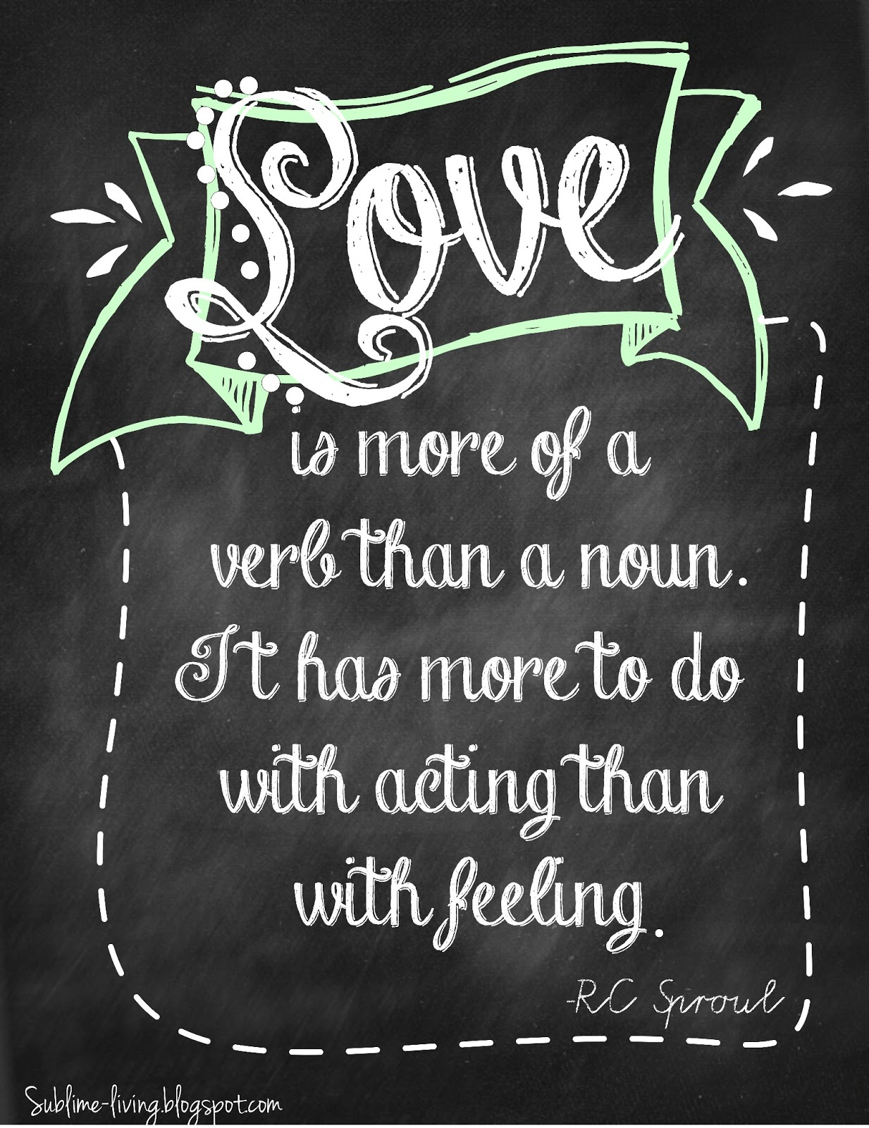 Chalkboard Love Quotes