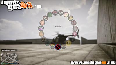 V - Ícones do Menu de Armas e Cor das Rádio em HD GTA V PC