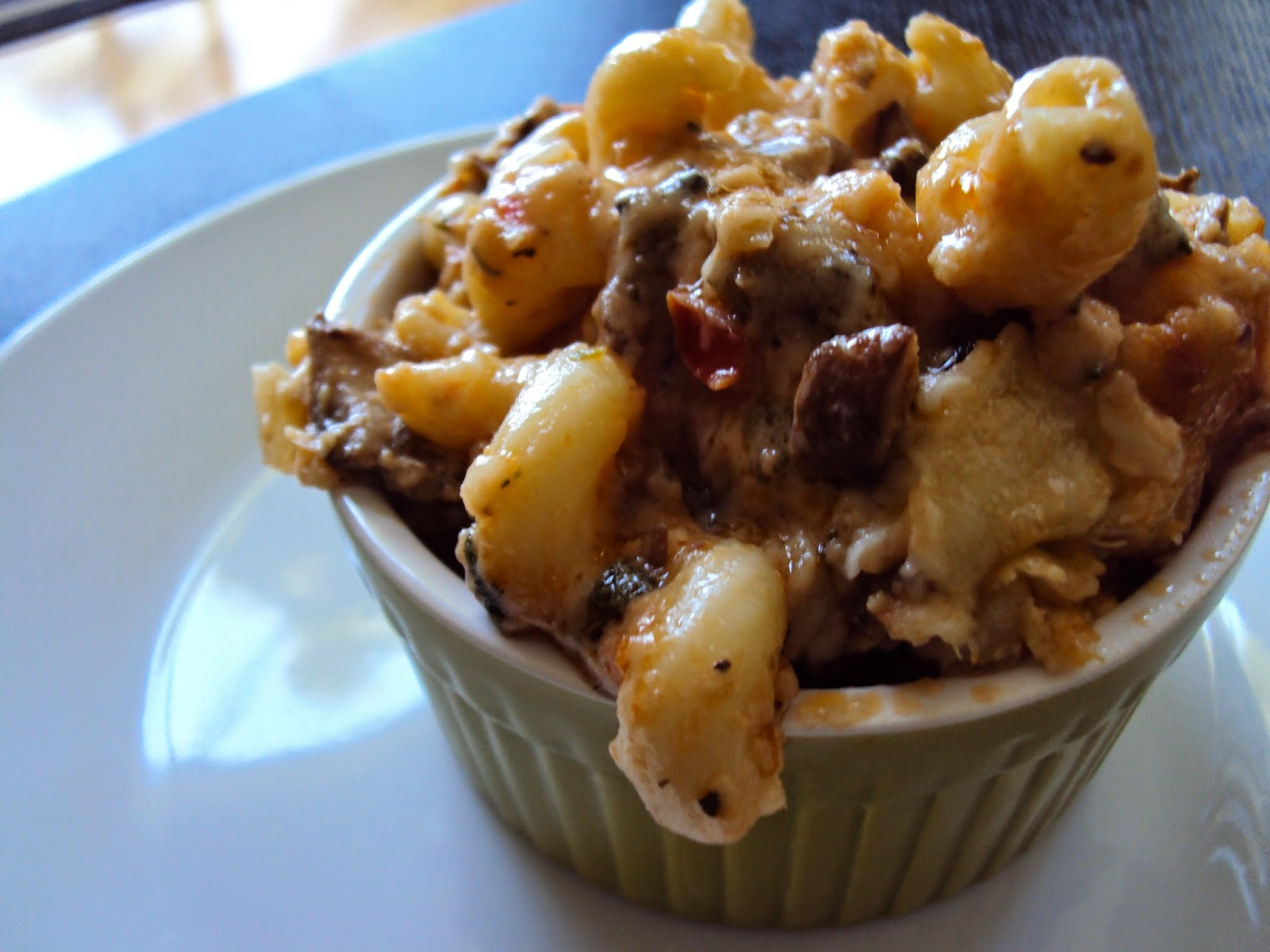 Macaroni & Cheese with  Portobello Mushrooms