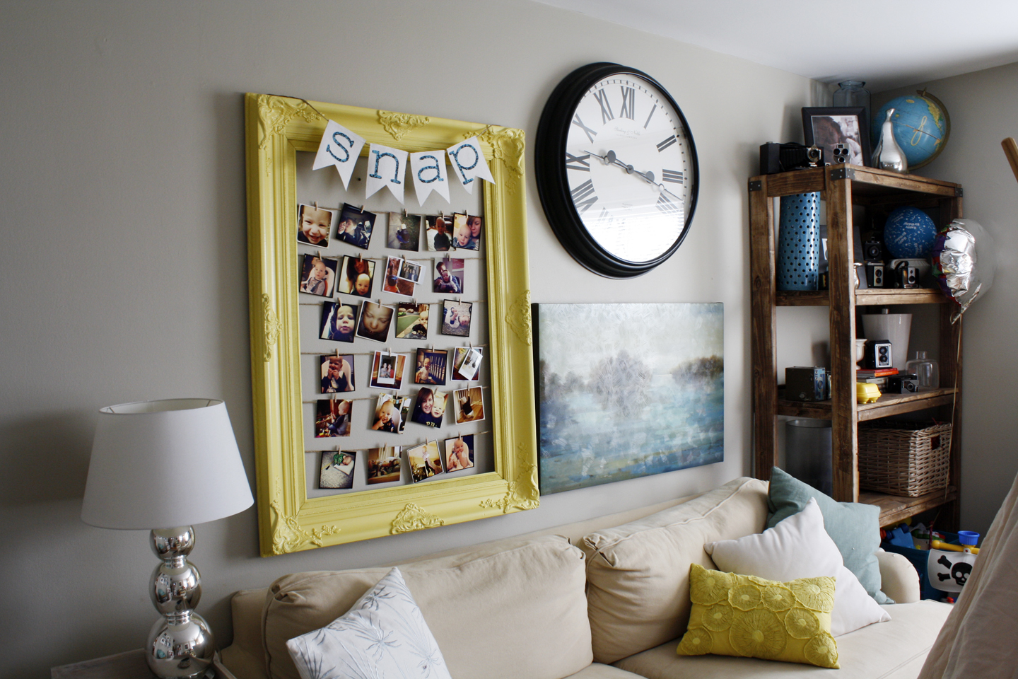 diy wall frame photo collage