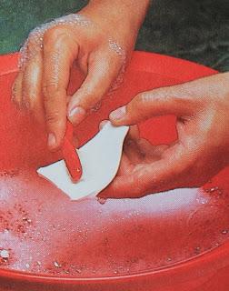 Como pegar la Porcelana, Pasos, Materiales