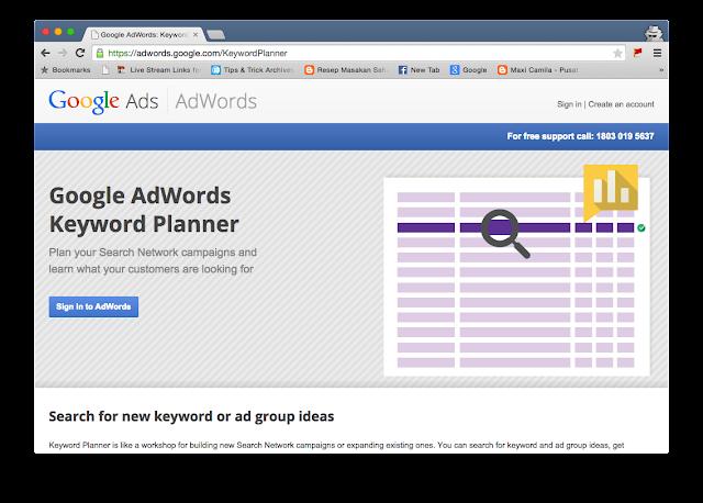adwords.google.com - Keyword Planner