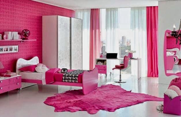 Habitaciones para niñas en color rosa 6