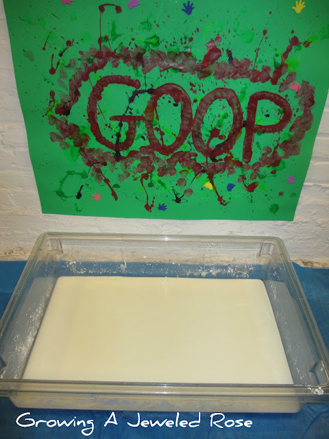 goop sensory play