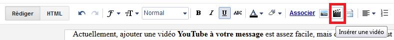 Ajouter vidéos YouTube à vos messages Blogger