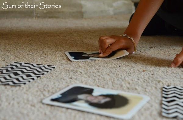 personalised memory game cards