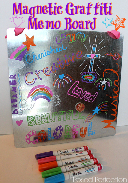 Magnetic Graffiti Memo Board-Top 10 Crafts/DIY/Tips of 2014
