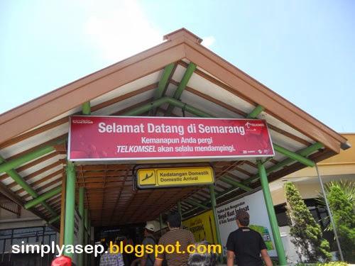 Tiba di Semarang.  Foto Asep Haryono