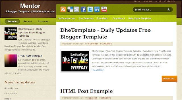 Free Google Blogs Templates