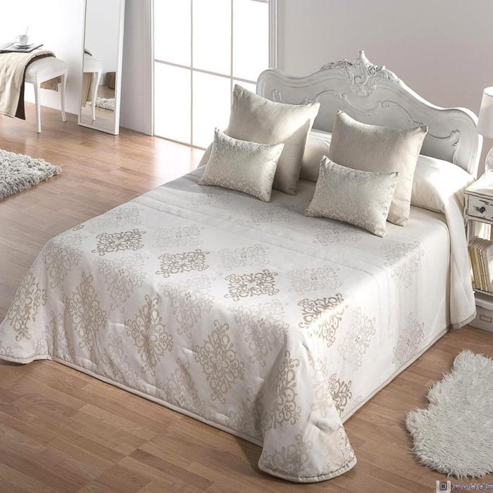 Decoraci n dormitorios vintage en color blanco with or - Cabeceros de cama vintage ...