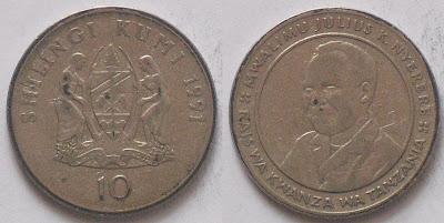 tanzania 10 shilingi 1991