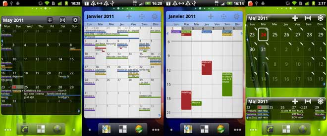 Pure Grid calendar widget android screenshot