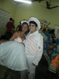 E o nosso lindo casal de noivos...