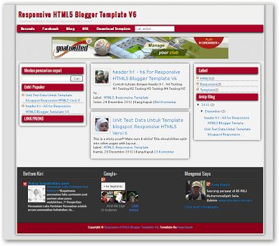 HTML5 V.6 blogger templates