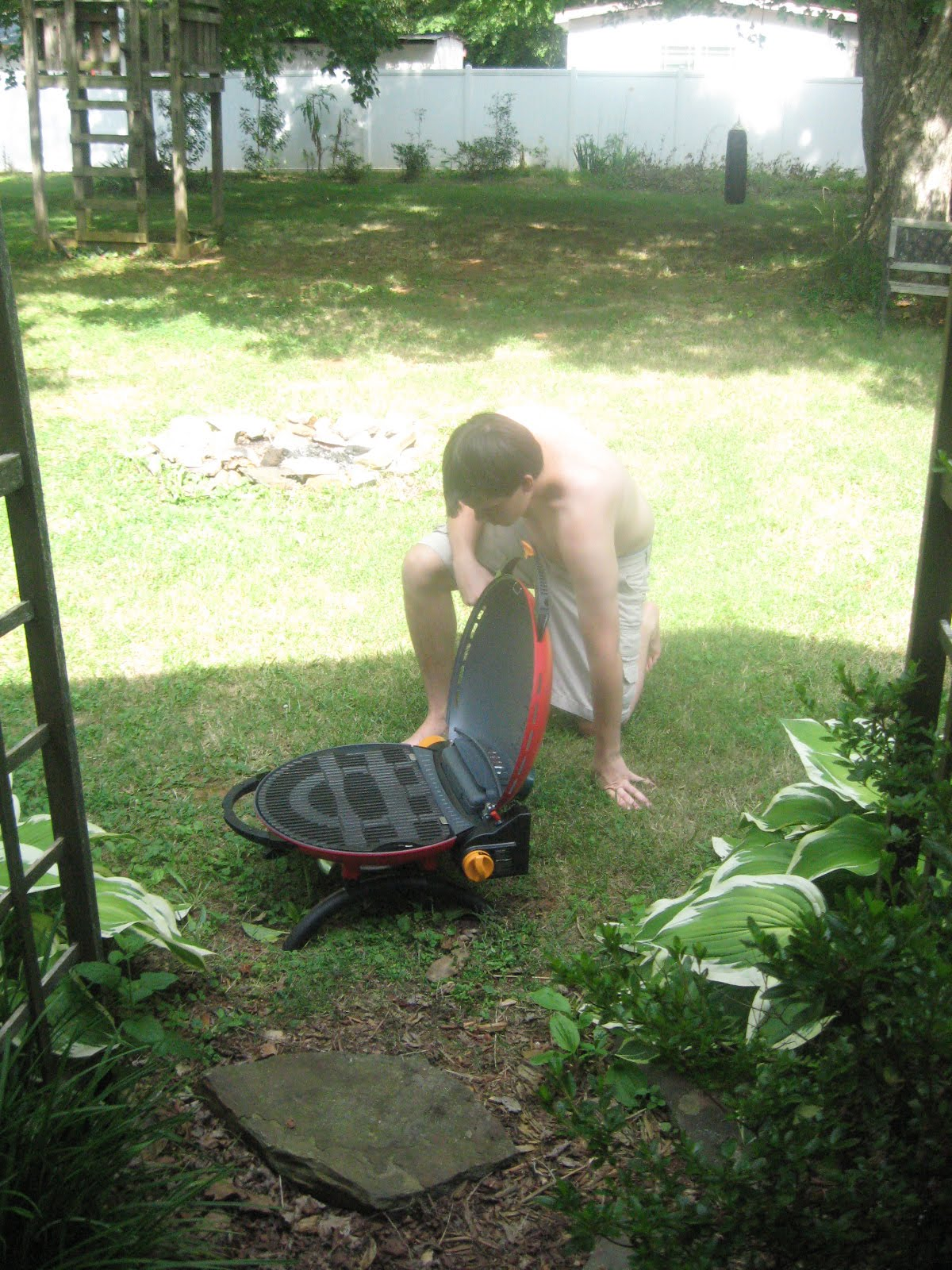Superb Son Setting Up O Grill My Son Who Won The North Carolina Scout Of The Year  Through The VFW Is Doing The Grill Set Up Here. It Took Him Maybe 5 Seconds.