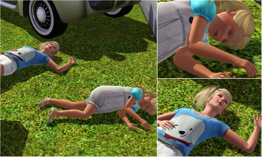 Sims  Car Crash Pose