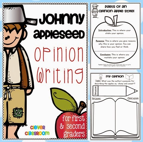 Johnny Appleseed Opinion Writing Unit a how to guide for teachers and students