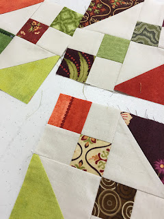 Bloomin Steps scrap quilt