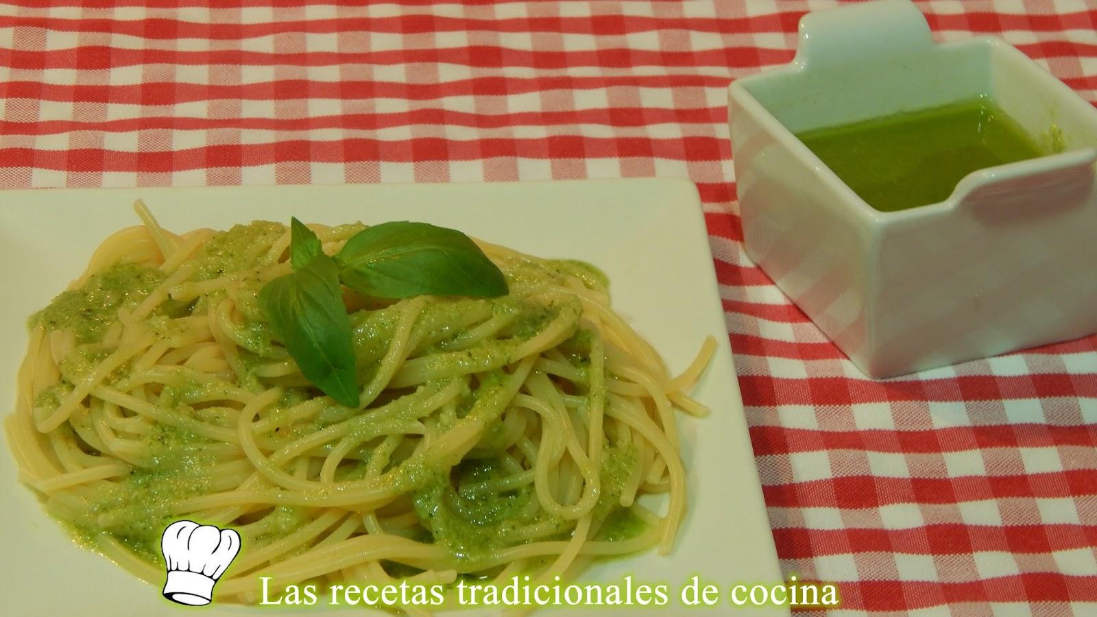 Receta Facil De Espaguetis Con Salsa Al Pesto Recetas De