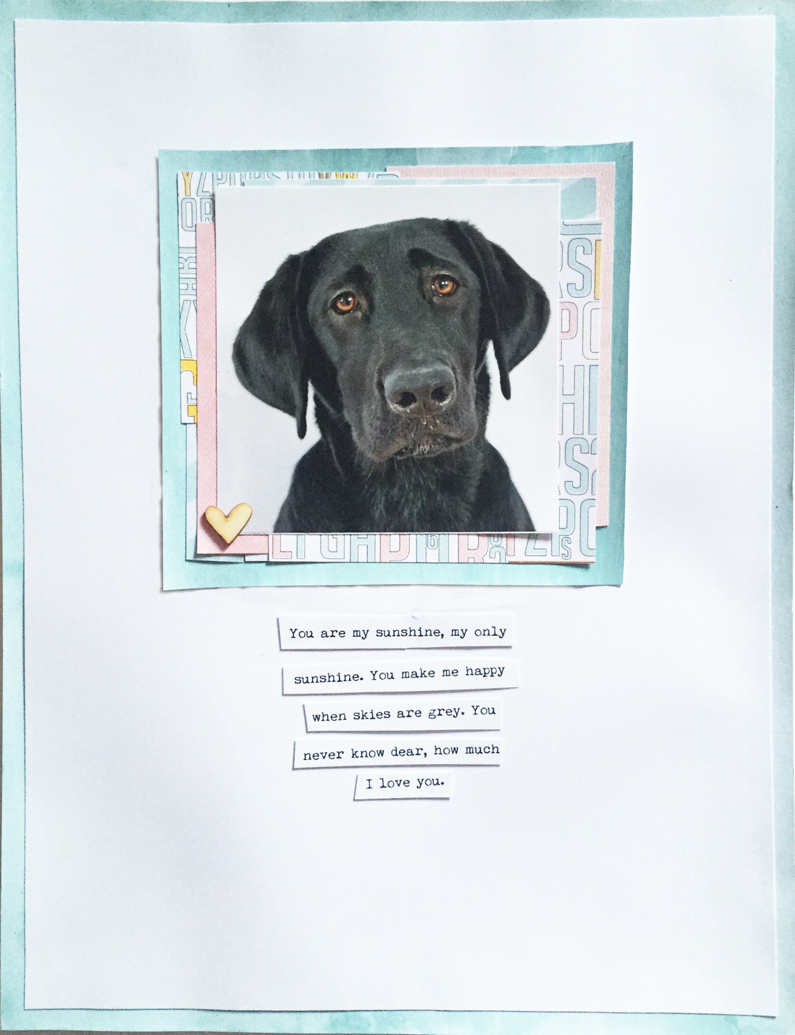 Black Lab Tradition Scrapbooking page