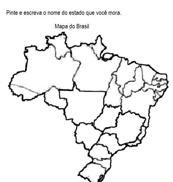desenhos para pintar e colorir   mapa do brasil para colorir