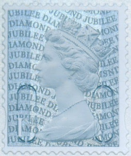 Close-up of MSND Machin definitive stamp.