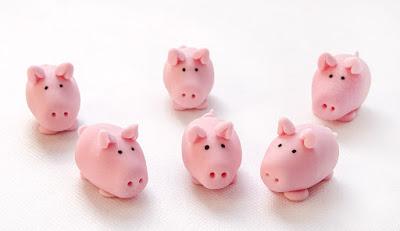 Pujsi iz tičino mase - pigs from fondant