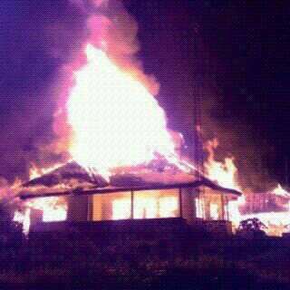Api Lalap Rumah Manejer PTPN 6 Kayu Aro