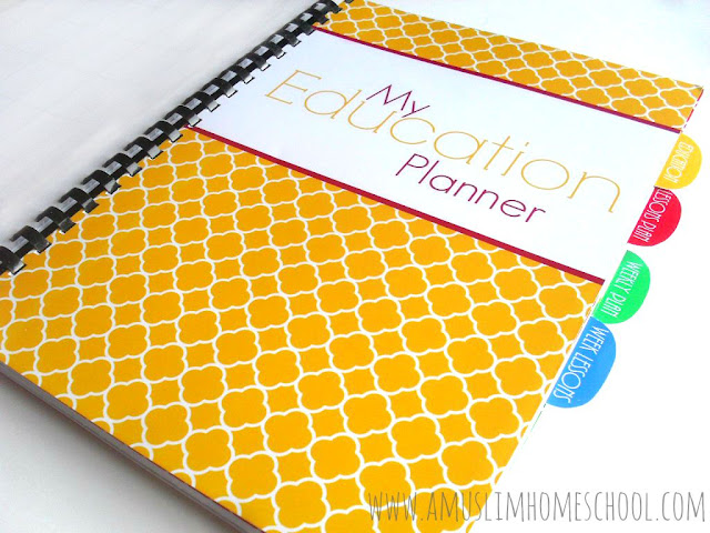 Education Planner divider for the Home School Planner