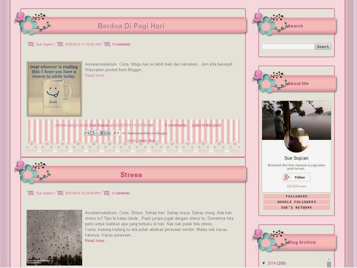 Tempahan Blog Design | Ceritera Warna Warni Kehidupan