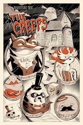 "Adventure Time ""The Creeps"" Standard Edition Screen Print by JJ Harrison"