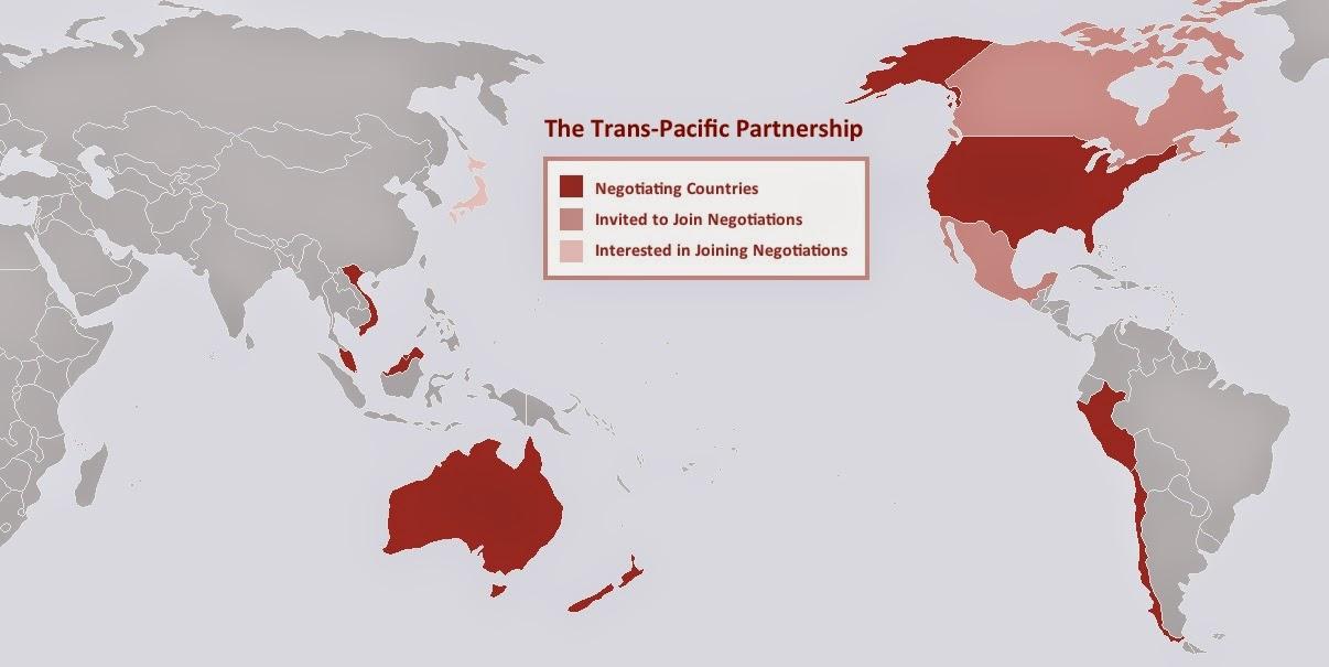 Países que están negociando el TTP