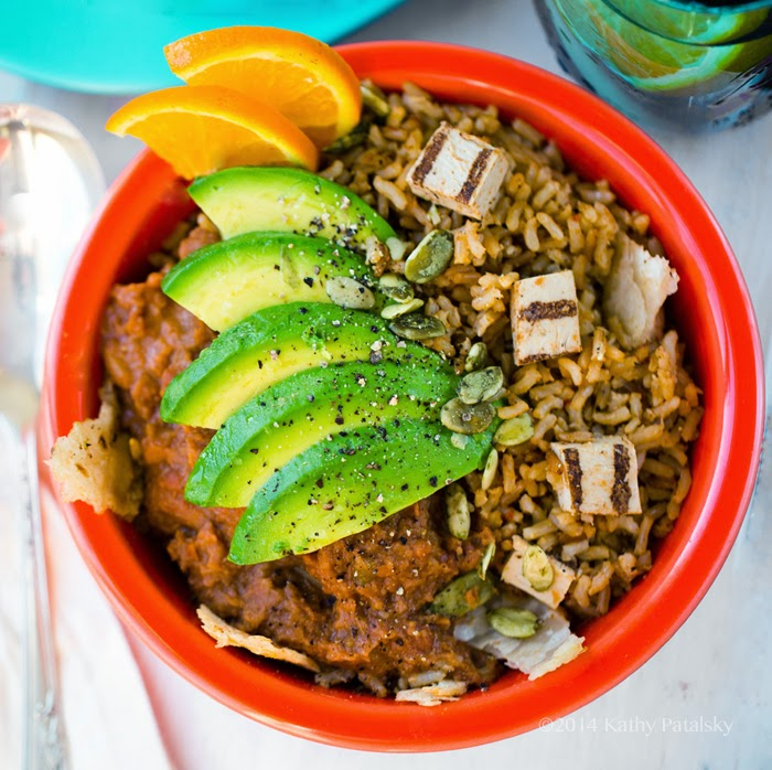 5-Step Protein-Taco Bowl with Fiesta Rice and Beans.